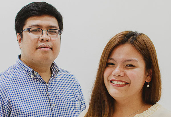 Ralph Tasic and Emmanuele Marie Parra are involved in the Manila Volunteers Council, a business resource group of Thomson Reuters which are employee-led mini organizations formed to cater to the employees' professional and personal development. Photo by Kitkat Pajaro