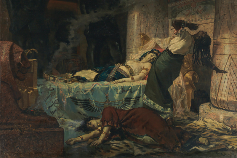 """The Death of Cleopatra,"" which won Juan Luna an award three years before completing the ""Spoliarium,"" is exhibited for the first time at the National Gallery Singapore."