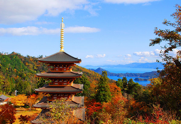 Kyoto by the Sea: A temple in Amanohashidate, one of Japan's three most famous scenic views.