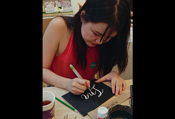 Live art station: The @inkscribbler team adds a personal touch to your journals. Photos by INA JACOBE
