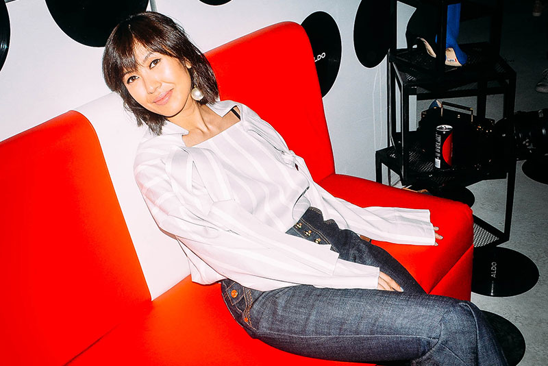 It girl: Having celebrity stylist and erstwhile fashon editor Liz Uy onboard is a stamp of approval for Aldo's versatility.