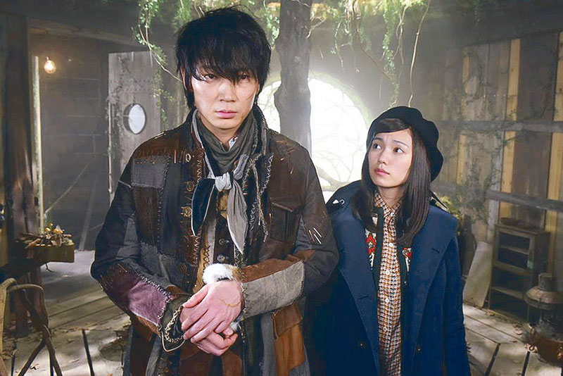 Go Ayano and Fumi Nikaido in a scene from the Japanese TV drama Frankenstein's Love, inspired by Mary Shelley's classic Gothic fiction novel