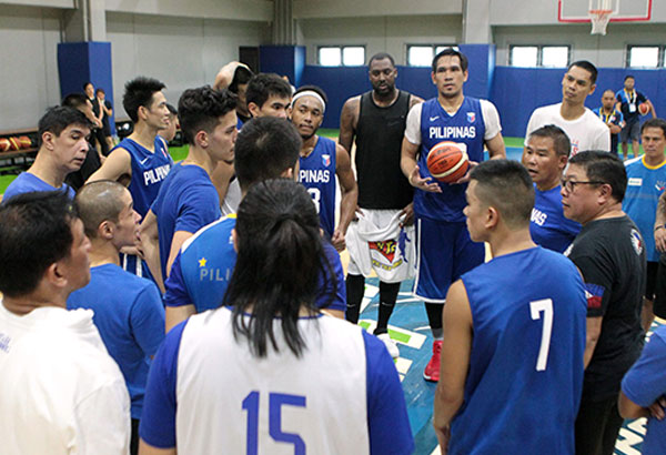 e86920c366d Gilas Pilipinas coach Chot Reyes gives instructions to his charges on the  eve of the SEABA Championship.