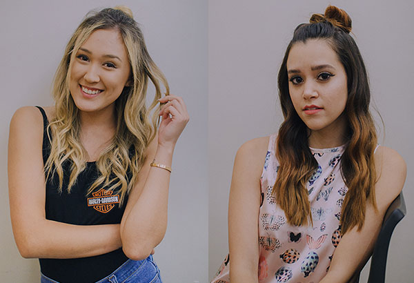 Screen queens: DIY and style YouTuber Lauren Riihimaki and singer-songwriter YouTuber Megan Nicole Flores. Photos by KITKAT PAJARO