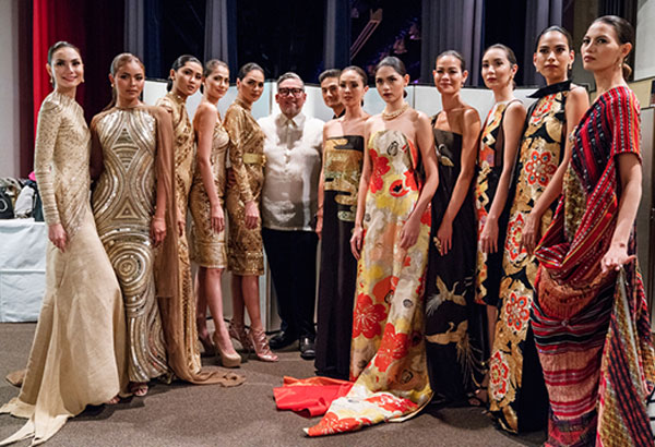 Rajo Laurel and his model muses celebrate our nation's 119th Independence Day with a fashion show in Tokyo, Japan.