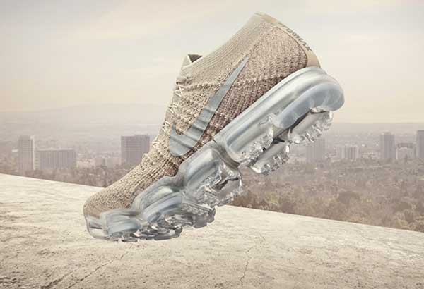 Combining two of the brand's greatest technologies -The FlyKnit and Nike Air -Nike VaporMax promises to changethe way shoes are made forever.Available inChrome Blush and Black Hero for P9,445.