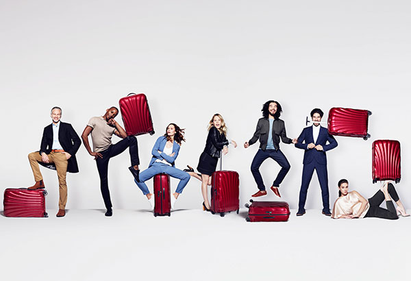 "Samsonite's 2017 global campaign ""For the Serious Traveler"" was shot by renowned photographer Rankin."