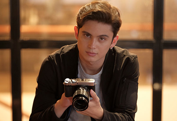 Palm dreams: James Reid likes taking photos of urban scenes, landscapes, and his girlfriend.