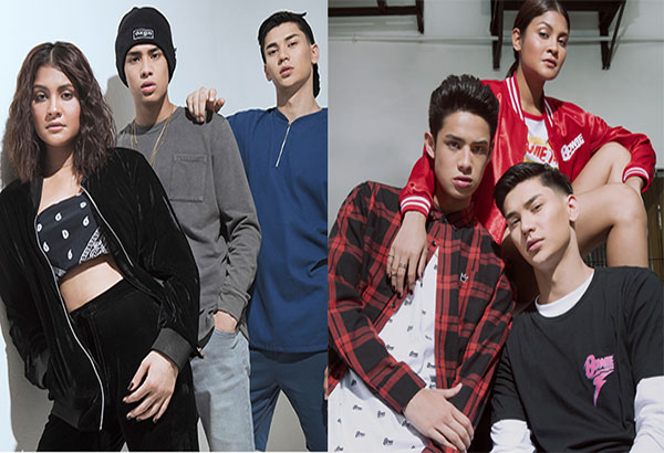 Easy breezy: MYX VJ Donny Pangilinan, musician Kiana Valenciano, and model Mauri Loosli are the new endorsers of streetwear brand Oxygen.