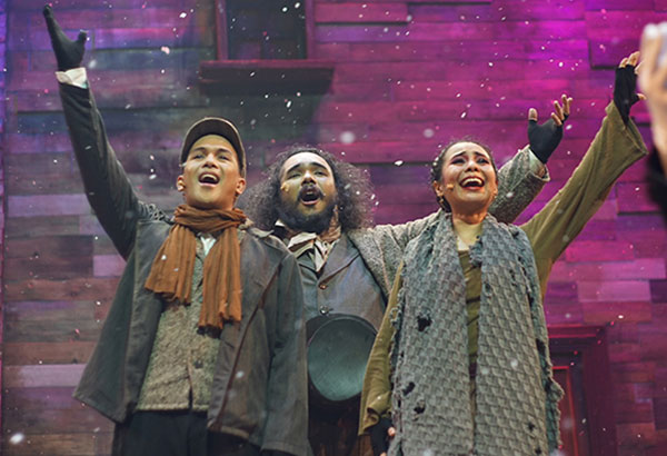 Jolly. Rich, and Fat: A Christmas Carol begins with uplifting production numbers.