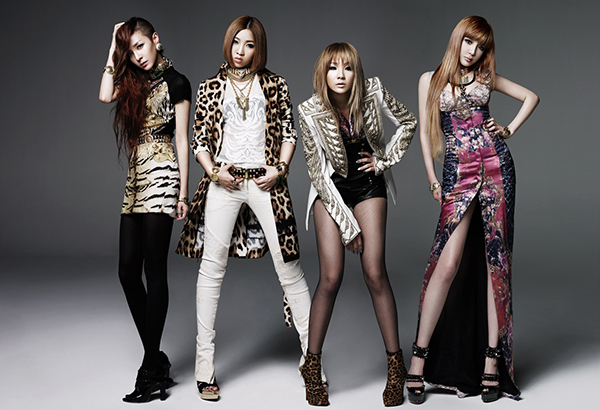 An eclectic mix of Balmain, Versace and Roberto Cavalli for their I Love You comeback performance.