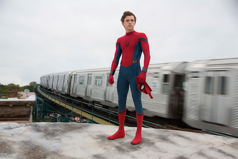 "This image released by Columbia Pictures shows Tom Holland in a scene from ""Spider-Man: Homecoming."" Chuck Zlotnick/Columbia Pictures-Sony via AP"