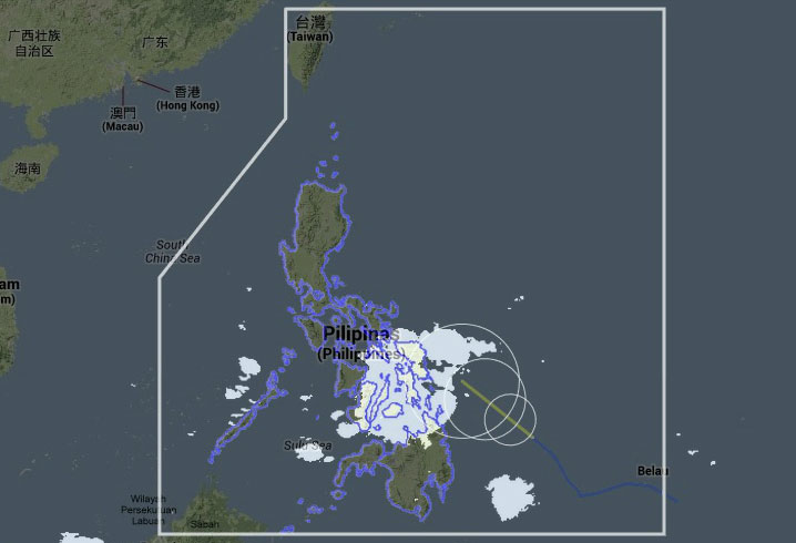 Satellite image from DOST Project NOAH website