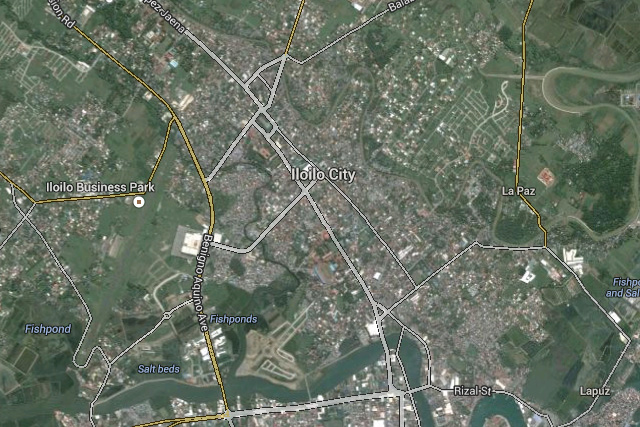 Satellite image from Google Maps shows Iloilo City.