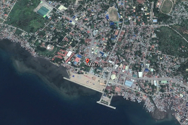 Mati Philippines  city photos gallery : Rendering of a satellite image of Mati City police station in Davao ...