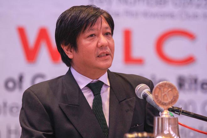 "President Rodrigo Duterte on Monday said former Sen. Ferdinand ""Bongbong"" Marcos Jr. is not keen on serving as the Interior and Local Government secretary. Bongbong Marcos/Released, File"