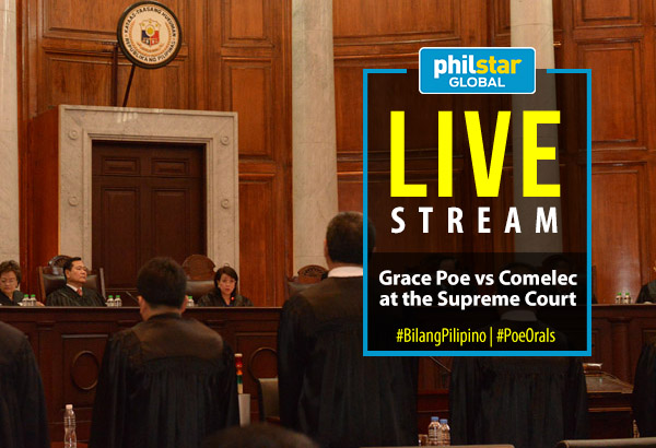 Counsels of the camps of Sen. Grace Poe, the Commission on Elections and private petitioners appear at the oral arguments before the Supreme Court in January 2016. SC PIO/Released