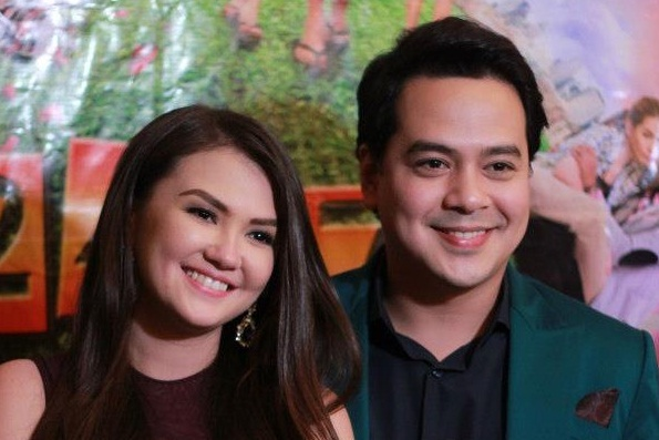 """AngelicaPanganiban'sdelivery of """"hugot"""" lines became the talk of the town following rumors of a breakup with John Lloyd Cruz. In this July 2013 photo, Angelica and John Lloyd celebrate their first anniversary together. ABS-CBN PR/Released"""
