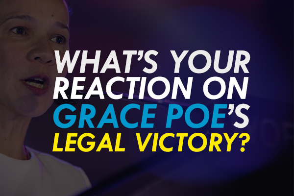 The Supreme Court on Tuesday voted 9-6 in favor of Sen. Grace Poe's petition against the disqualification cases filed against her at the Commission on Elections. AP, file