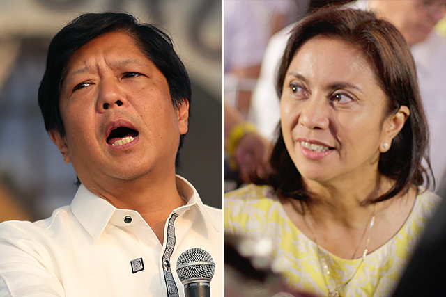 Former Sen. Bongbong Marcos filed an electoral protest against Vice President Leni Robredo, who beat him in the 2016 polls. AP, File | Philstar.com/Efigenio Toledo IV