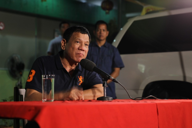 "President Rodrigo Duterte reiterated that he is ""not anymore inclined"" to continue the peace talks with the Communist Party of the Philippines and its armed wing, the New People's Army. PPD/Karl Norman Alonzo, File"
