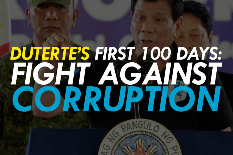 President Rodrigo Duterte vowed to fight corruption and repeated several times that his would be a clean government. PPD/