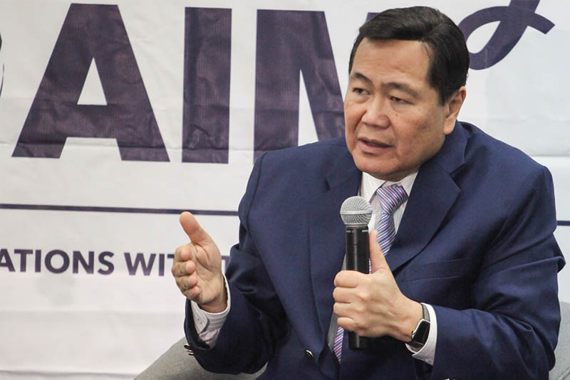 """When we filed a case, the case was ongoing, China really wanted us to withdraw the case. And China made an offer,"" says Supreme Court senior Associate Justice Antonio Carpio at a forum at the Asian Institute of Management on Oct. 14, 2016. Philstar.com/Efigenio Toledo IV"