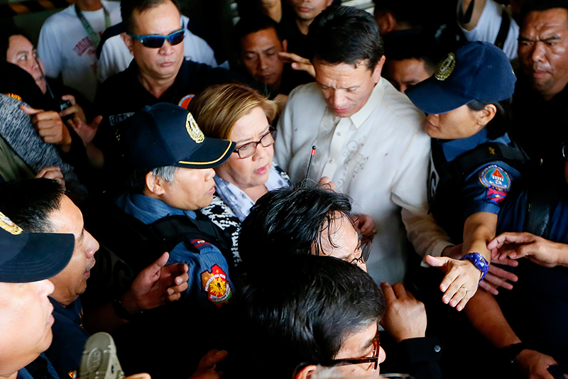 This was part of the recommendations made by a delegation of the IPU's human rights committee, which visited the country recently to check on the status of Sen. Leila de Lima and the extrajudicial killings under the Duterte administration. AP/Bullit Marquez, File photo