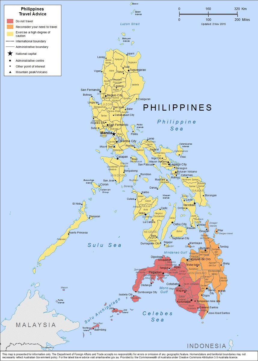 Australians Warned Of Terror Threat In Central Visayas