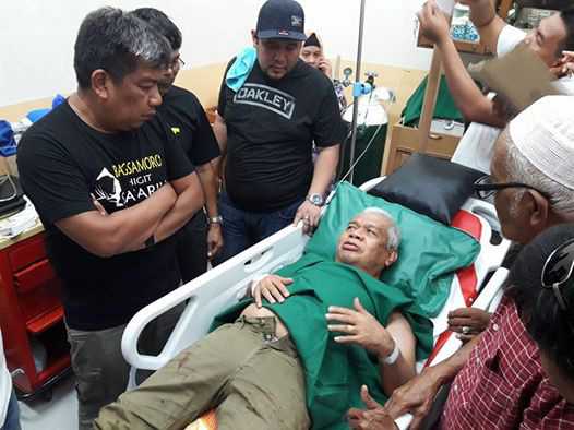 Kagui Ali Midtimbang, the influential leader of Maguindanao's large Midtimbang clan, was one of the eight people wounded in the grenade attack at past 1:00 p.m. Friday in Talayan town. Philstar.com/John Unson