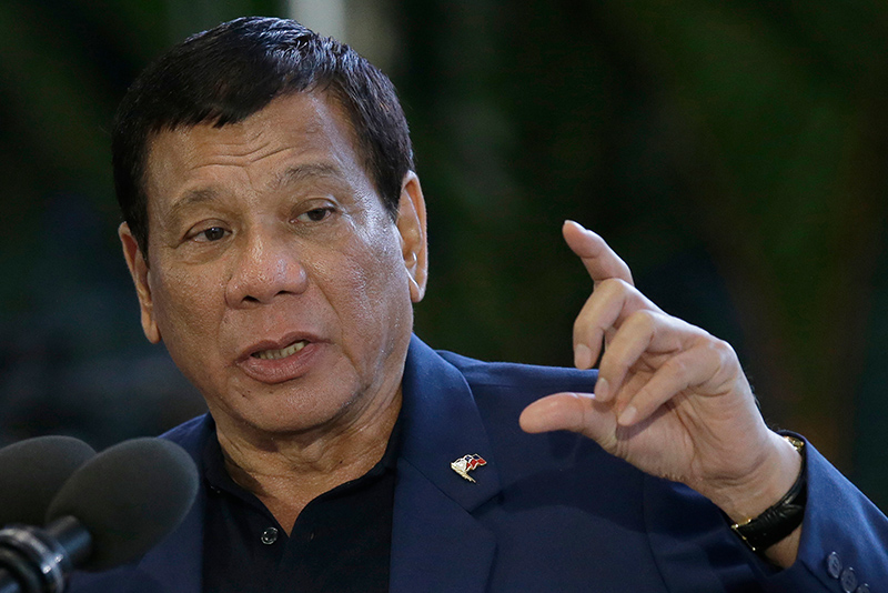"""They are the two entities that would be relied upon heavily by a president or a head of state when he entertains extreme measures (such as) martial law (and) state of emergency,"" Duterte said in a press briefing in Davao City, referring to the Armed Forces of the Philippines (AFP) and the Philippine National Police (PNP). File"