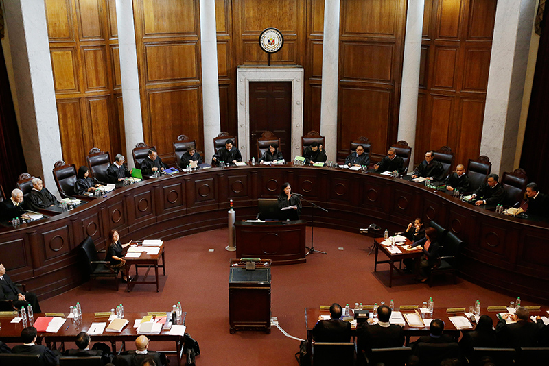The constitutionality of President Rodrigo Duterte's bloody war on drugs was tackled through oral arguments by the Supreme Court on Tuesday, Nov. 21, 2017. Police recorded over 6,000 deaths under investigation since June 2016 under the drug war, while human rights group put the death toll at 13,000. AP/Bullit Marquez, File