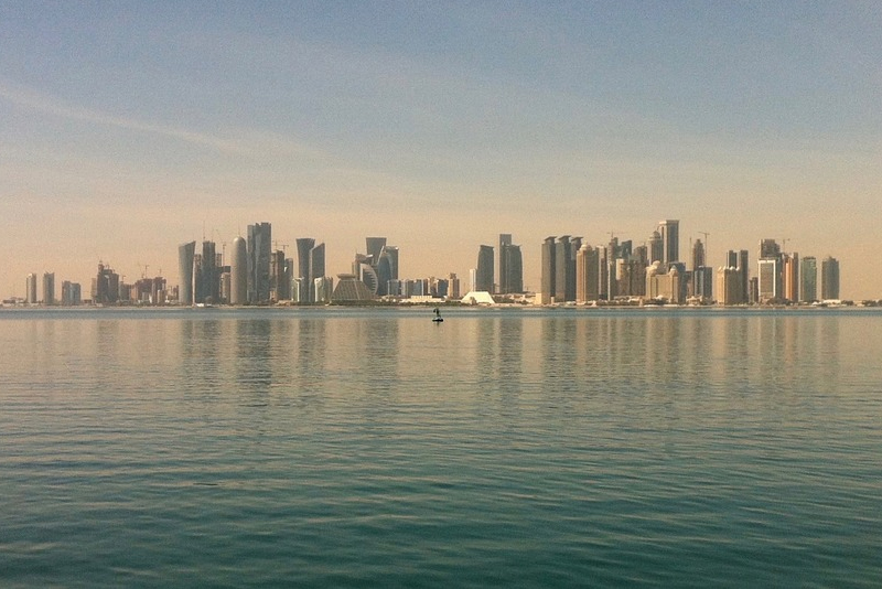 Skyline of Doha, the capital of Qatar. The Philippines is one of the top sources of migrant workers in the Gulf state.