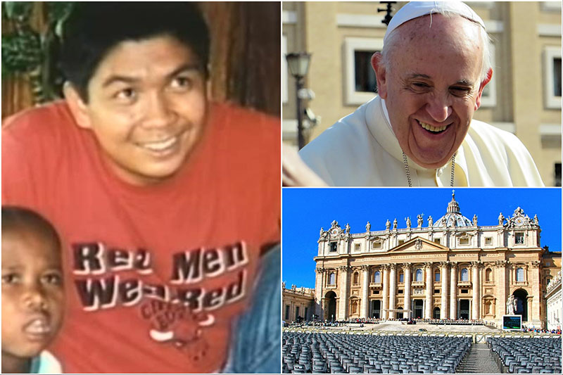 Pope Francis recently introduced a new path to sainthood. Admirers of a Filipino Jesuit brother, Richie Fernando (left), who died saving his students in Cambodia think he can fit in the category.