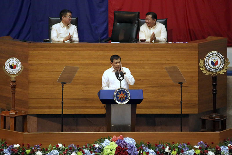 Transcript of President Rodrigo Duterte's State of the Nation Address on Monday, July 24, 2017 at Batasang Pambansa. The speech was made before a joint session of Congress. Philstar.com / AJ Bolando