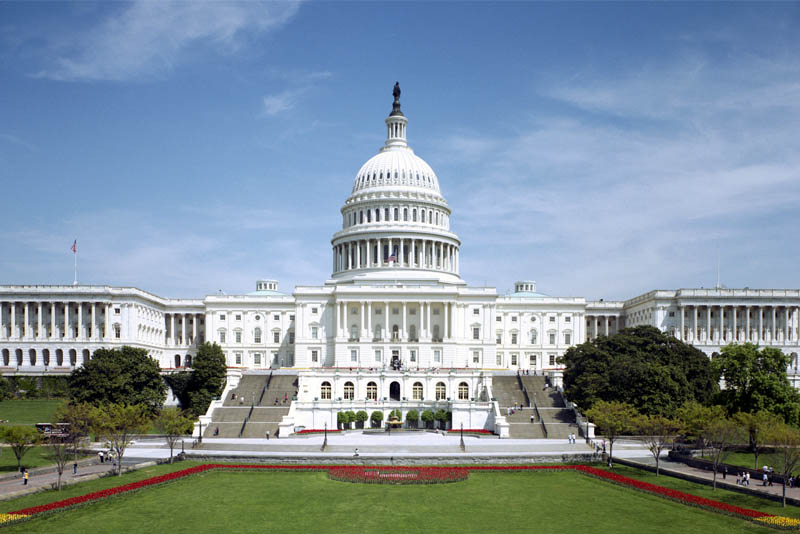 The home of the United States Congress, and the seat of the legislative branch of the U.S. federal government.