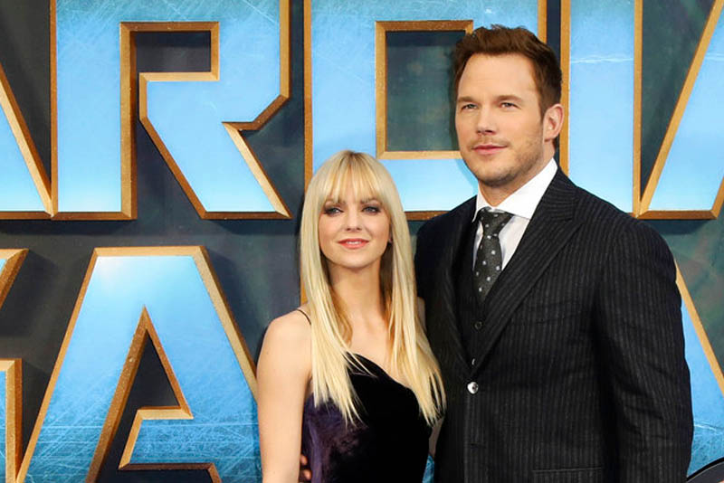 "In this April 24, 2017, file photo, actors Anna Faris, left, and Chris Pratt pose for photographers upon arrival at the premiere of the film ""Guardians of the Galaxy Vol.2"" in London. Vianney Le Caer/Invision/AP, File"