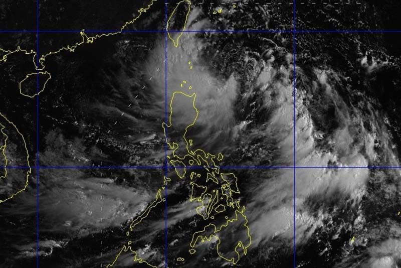 "The Philippine weather agency placed Batanes under storm signal 1 as ""Isang"" continues to move in west northwestward direction in the country's northern. PAGASA/Released"