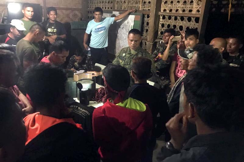 The nine rebels who surrendered Sunday yielded roadside bombs that they originally planned to plant along thoroughfares in Senator Ninoy Aquino town in Sultan Kudarat. JOHN UNSON
