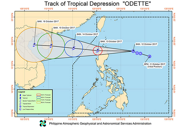 1 raised in Northern Luzon as TD 'Odette' enters PH