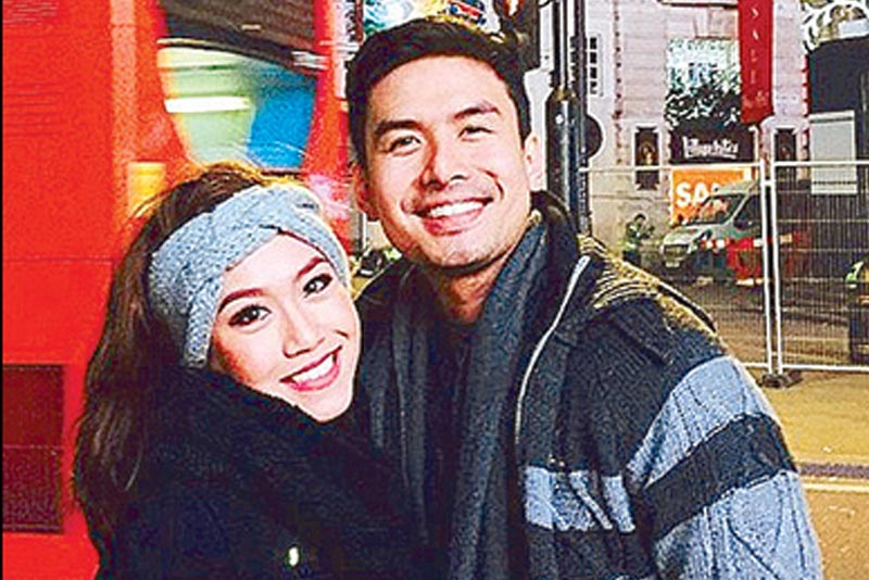 Christian Bautista and Rachelle Ann Go in London, 2015. STAR/File