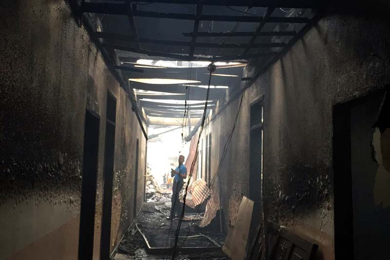 The police station fire was declared out within two hours but not before it caused significant damage. The STAR/Marc Jayson Cayabyab, file