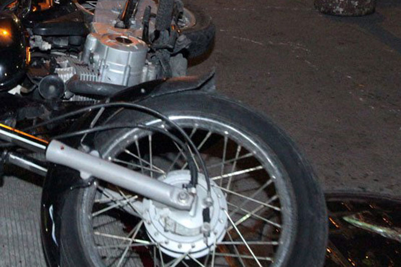 Initial investigation showed the motorcycle of security guard Michael Domingo, 33, rear-ended the tricycle driven by Marjoran Manuel.