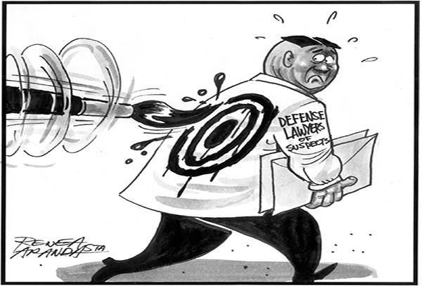 EDITORIAL - In the line of fire