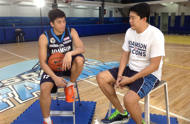Looking back and forward with the Adamson Falcons' Jansen Rios and coach Kenneth Duremdes.