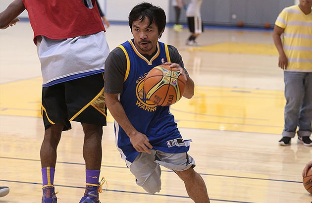 Pacquiao plays hoops at turf of NBA's Warriors | Sports, News, The Philippine Star ...