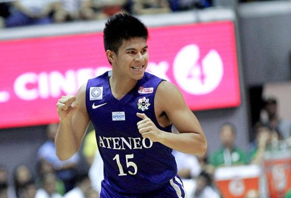 Kiefer Ravena leads Ateneo Blue Eagles to their first win of the season. File Photo