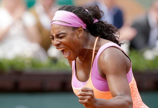 Serena Williams during the 2015 Roland Garros in Paris, France. AP File Photo