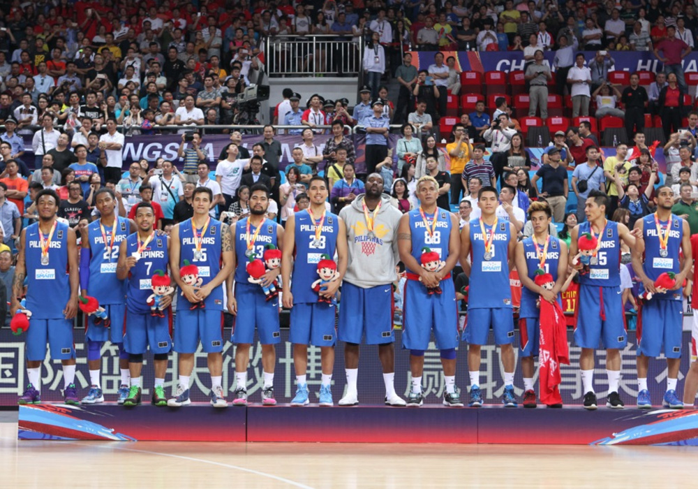 Gilas 3.0 with their silver medals during the awarding ceremonies in the 2015 FIBA Asia Men's Championship in Changsha, Hunan, China. FIBA.com