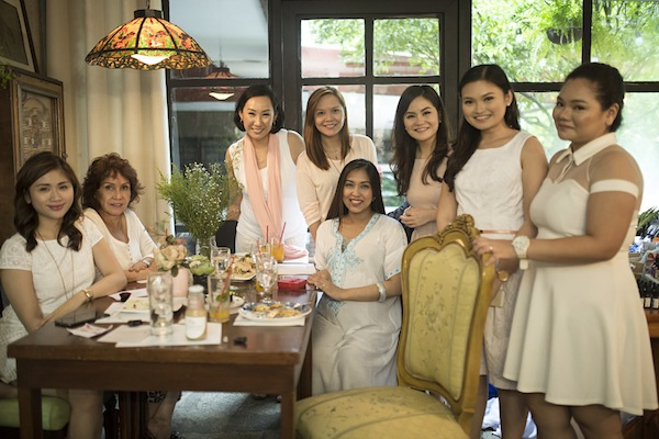 In this photo: Seated — Margaux Lucenia, Ms. Grace Valerio, and Lala Tuazon, the owners of Mateo's Garden Café. Standing — Martine de Luna, April San Pedro, Carmel David, Audrey Angcos, and Rikka Redrico